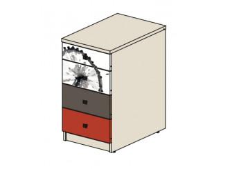 Тумба к угловому столу с 4-мя ящиками - 92т036