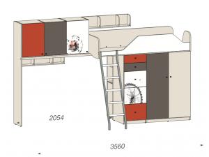 Дополнительная 2х дверная полка, для кровати-чердака - 92р001