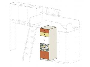 Шкаф с 5-ю ящиками под кровать-чердак - 92н002