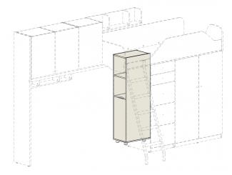 Дополнительный шкаф под кровать-чердак - 92н005