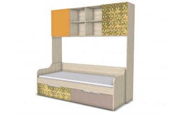 Шкаф-полка и кровать с 2-мя ящиками - 92н008-k031