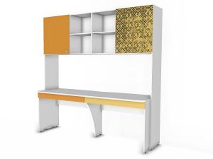 Шкаф-полка надставка с двойным столом - 92н008-s001