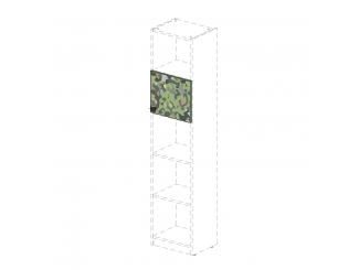 Дверка для стеллажа с рис. (на 1 ячейку) - 92н0101