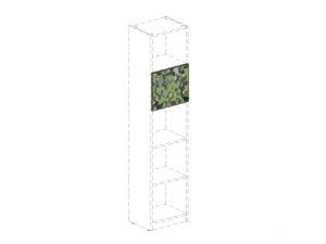 Дверка для стеллажа с рис. (на 1 ячейку) - 92н0102