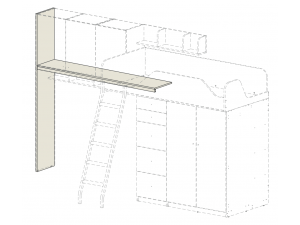Подставка под полки СЛЕВА, для кровати-чердака - 92k005