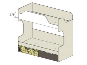 2-х ярусная кровать с 2-мя ящиками - 92k052, вход СПРАВА