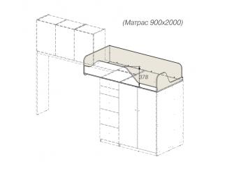 кровать-чердак без лестницы - 92к151