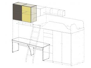 Дополнительная 2х дверная полка, для кровати-чердака - 92p001