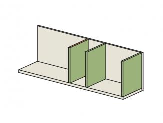 Полка с перегородками СПРАВА - 92p010