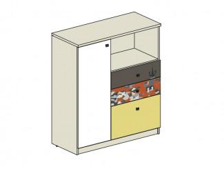 Комод с 3-мя ящиками и дверкой СПРАВА - 92т007