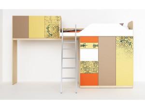 2х дверный шкаф под кровать-чердак - 92н004