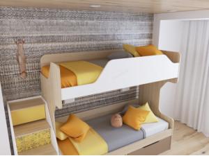 Лестница для 2-х ярусной кровати - 92т071, с ящиками