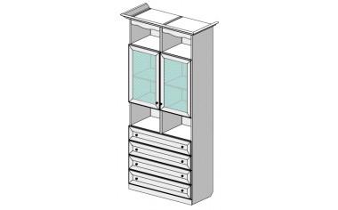 Шкаф-витрина 69н002