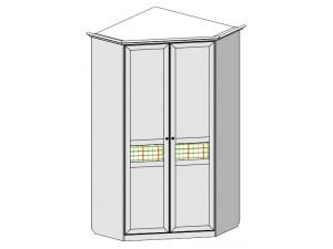 Угловой двух-дверный шкаф с подсветкой - 69н035