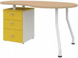 Стол фигурный, тумба СЛЕВА - 51s001