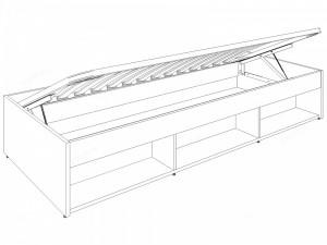 Кровать со сп. местом 90*200, с подъемным механизмом - 51к121