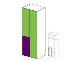 Шкаф двух-дверный с ящиками 51н021