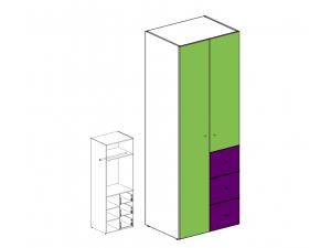 Шкаф двух-дверный с ящиками 51н022