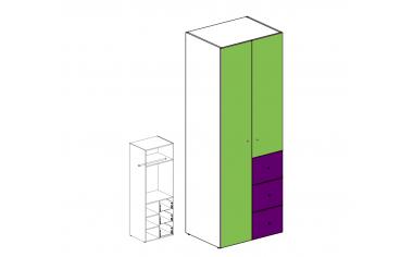 Шкаф двух-дверный с ящиками - 51н022