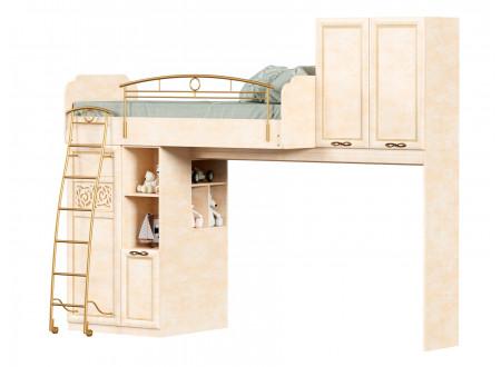 Кровать-чердак на двух шкафах, сп. место 80*190, с письменным столом - 510.020_050 (набор Александрия-2)