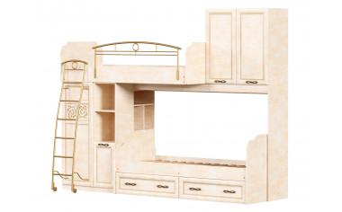 2-х ярусная кровать со шкафами - Александрия