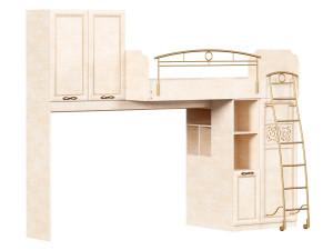 Кровать-чердак, сп. место 80*190, с угловым письменным столом СЛЕВА - 510.020_050_070
