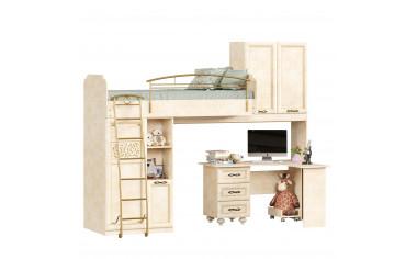 Кровать чердак со шкафами и письменным столом - Александрия