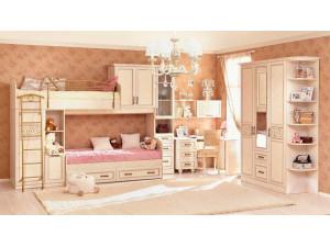 Трех-дверный шкаф с зеркалом и 2-мя ящиками - 510.130