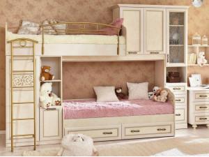 2-х ярусная кровать Александрия со шкафами - (скидка 45%)