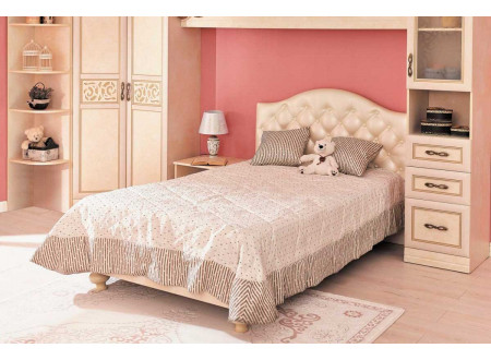 Кровать с мягкой спинкой, спальное место 120*200 - 510.010