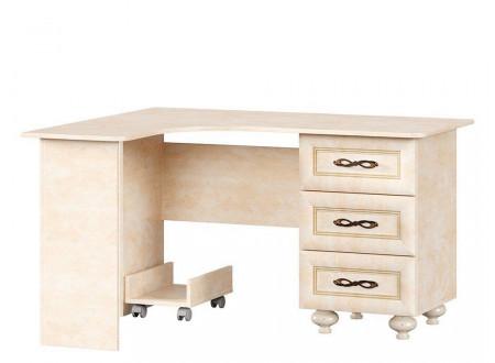 Угловой письменный стол с тумбой СПРАВА - 510.070