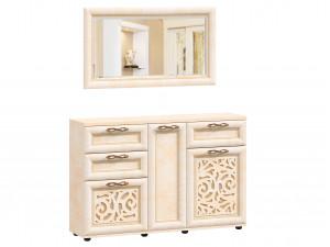 Комод с 3-мя дверками и 3-мя ящиками с настенным зеркалом - ЛД 125.130-140