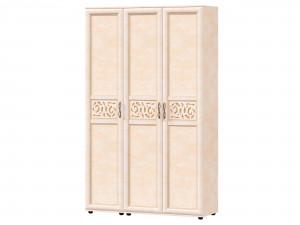 Трех-дверный шкаф с полками с вешалкой и с крючками внутри - 125.021-011