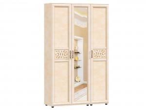 Трех-дверный шкаф с зеркалом с полками и с вешалкой - 125.021z-011