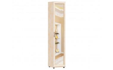 Однодверный шкаф с зеркалом с полками - прихожая Александрия