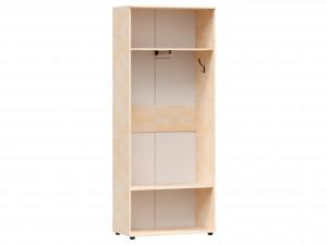 Двух-дверный шкаф с зеркалом с полками и вешалкой внутри - 125.021z