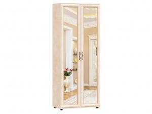 Двух-дверный шкаф с 2мя зеркалами с полками и вешалкой - 125.022