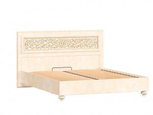 Кровать с прямоугольным изголовьем и с решеткой, без матраса, спальное место 160*200 - 625.011 М