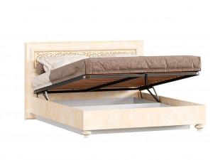 Кровать с прямоугольным изголовьем с подъёмной решеткой, с ящиком для белья, сп. место 160*200 - 625.012 М