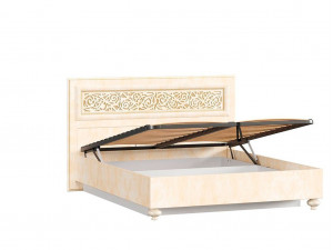Кровать с прямоугольным изголовьем с подъёмной решеткой, с ящиком для белья сп. место 140*200 - 625.022 М