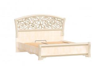 Кровать с изогнутым изголовьем и с решеткой, без матраса, спальное место 140*200 - 625.221