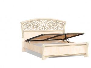 Кровать с изогнутым изголовьем с подъёмной решеткой, с ящиком для белья, сп. место 140*200 - 625.222