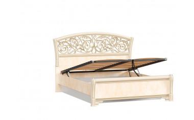Кровать 140*200 с изогнутым изголовьем с подъёмным механизмом - спальня Александрия
