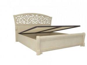 Кровать с изогнутым изголовьем с подъёмной решеткой, БЕЗ матраса, сп. место 160*200 - 625.250