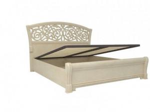 Кровать с изогнутым изголовьем с подъёмной решеткой, БЕЗ матраса, сп. место 140*200 - 625.260