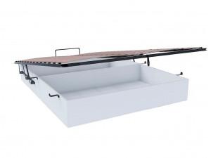 Кровать с изогнутым изголовьем с подъёмной решеткой, со встроенным ящиком для белья, сп. место 160*200 - 625.182