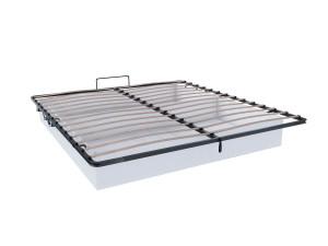 Кровать с мягким изголовьем с подъёмной решеткой и без матраса, сп. место 160*200 - 665.340