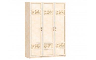 3-х дверный шкаф со штангой и полками - спальня Александрия