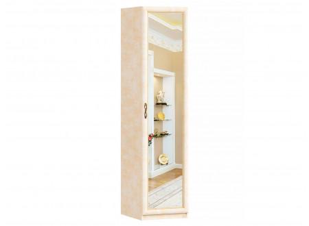 Однодверный шкаф с зеркалом с полками и со штангой - 625.042 (универсальный L / R)