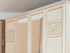 Двух-дверный шкаф с 2-мя зеркалами, со штангой и с полками внутри - 625.052